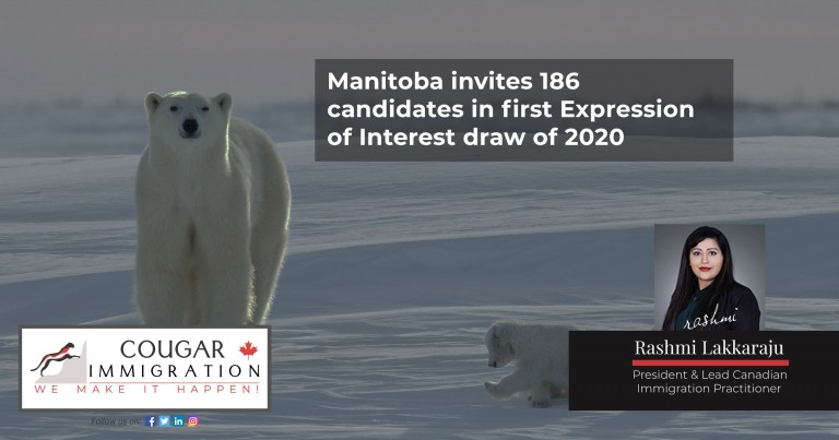 Manitoba invites 186 candidates in first Expression of Interest draw of 2020