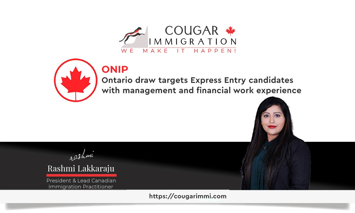Ontario draw targets Express Entry candidates with management and financial work experience thumbnail