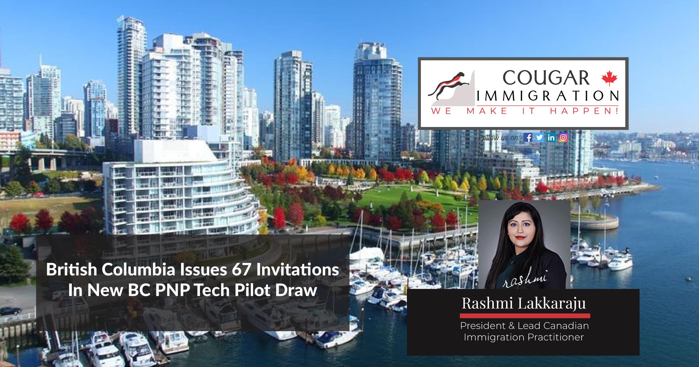 British Columbia Issues 67 Invitations In New BC PNP Tech Pilot Draw thumbnail